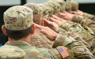 Soldiers presenting a Salute